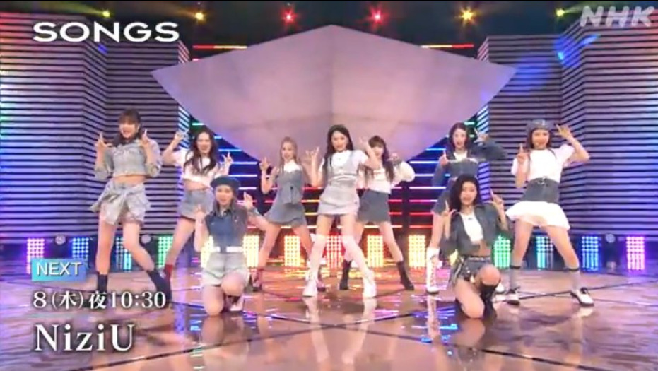 SONGS(NiziU)4月8日の無料動画や見逃し配信をフル視聴する方法!